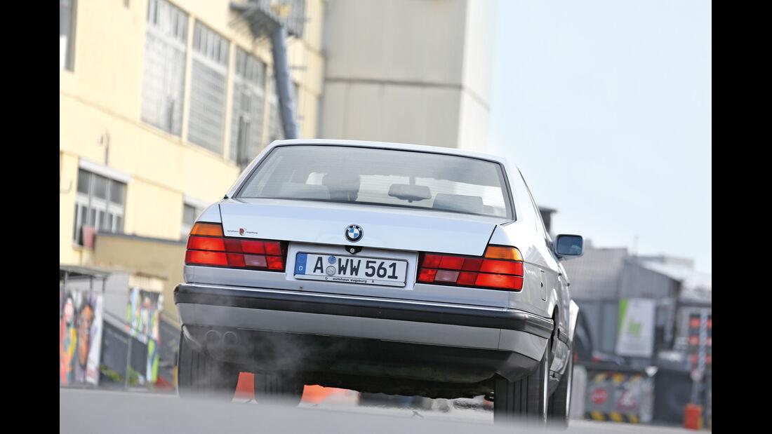 BMW 740i, Heckansicht