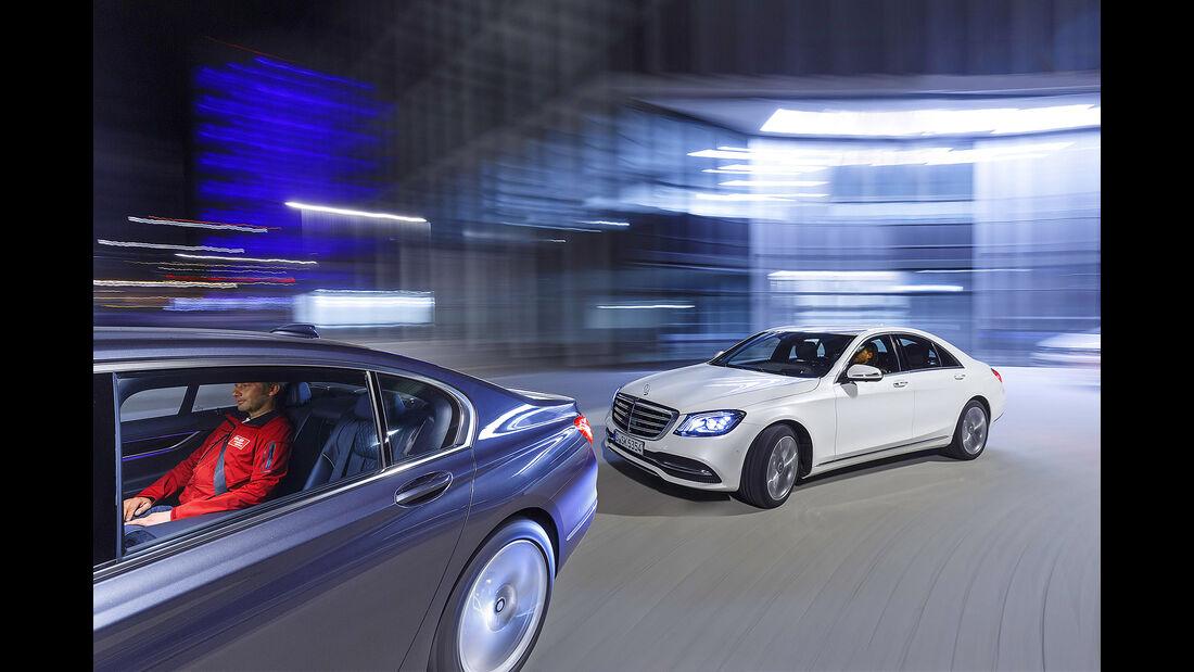 BMW 740i, Mercedes S 450 4Matic, Exterieur