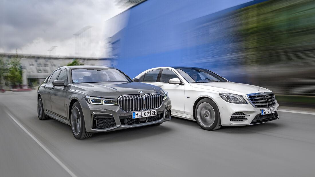 BMW 745e, Mercedes S 560 e, Exterieur