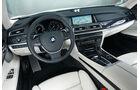 BMW 750d x-Drive, Cockpit, Lenkrad