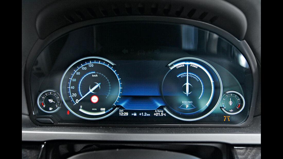 BMW 750d x-Drive, Eco Pro-Anzeige, Rundinstrumente