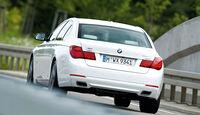 BMW 750d x-Drive, Heckansicht