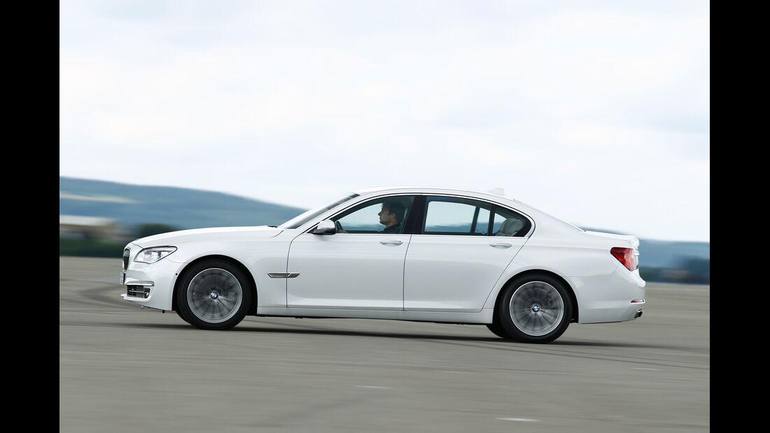 BMW 750d x-Drive, Seitenansicht