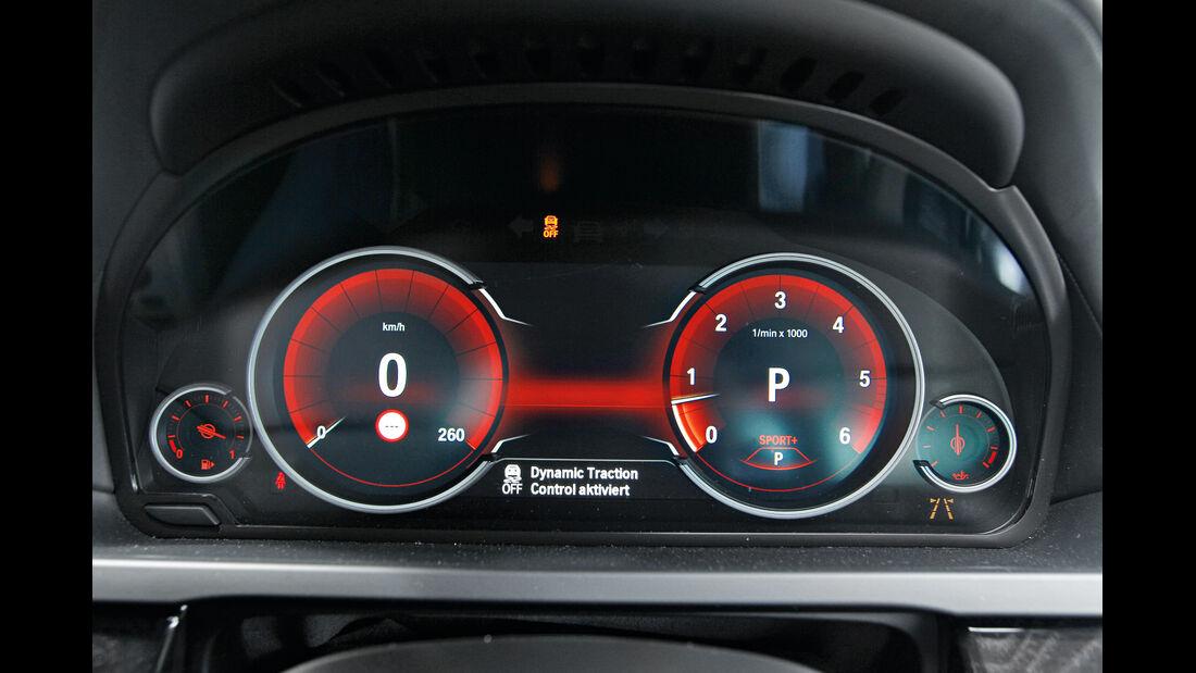 BMW 750d x-Drive, Sport-Modus, Rundinstrumente