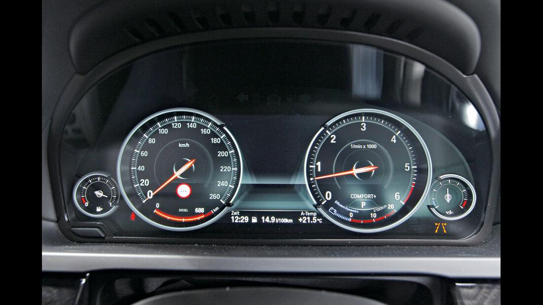 BMW 750d x-Drive, Standart-Modus, Rundinstrumenten