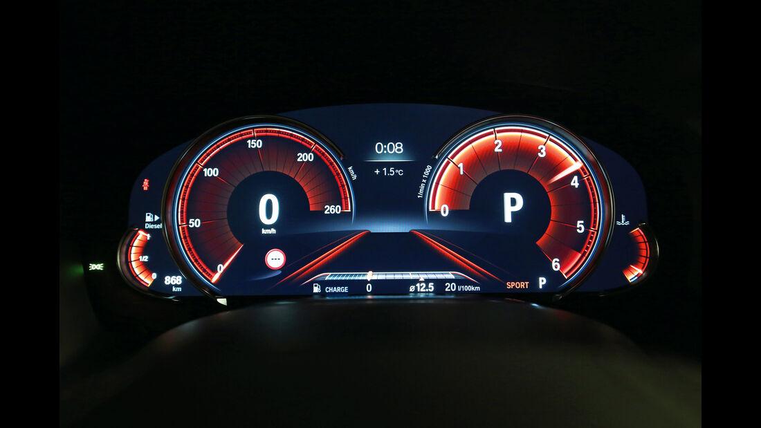 BMW 750d xDrive, Anzeigeinstrumente