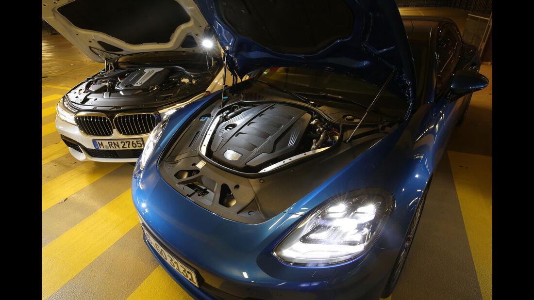 BMW 750d xDrive, Porsche Panamera 4S Diesel, Motor