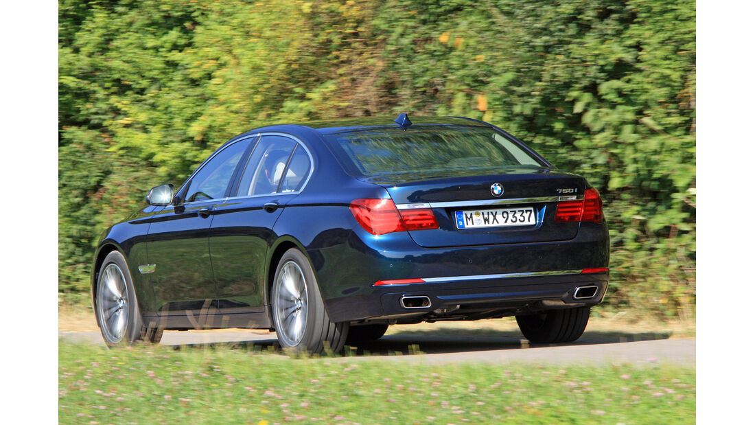 BMW 750i, Heckansicht