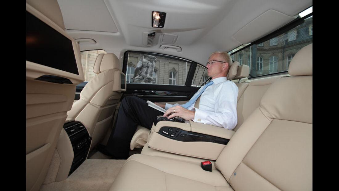 BMW 7er, Fond, Innenraum, Einzelsitze