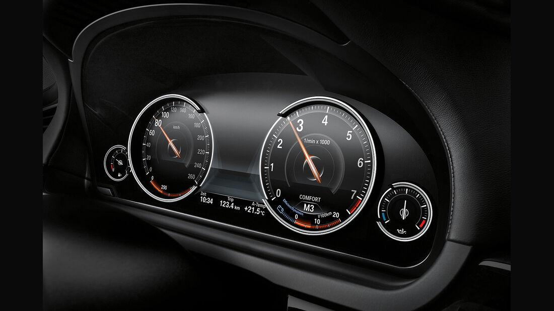 BMW 7er, Instrumente, Tacho
