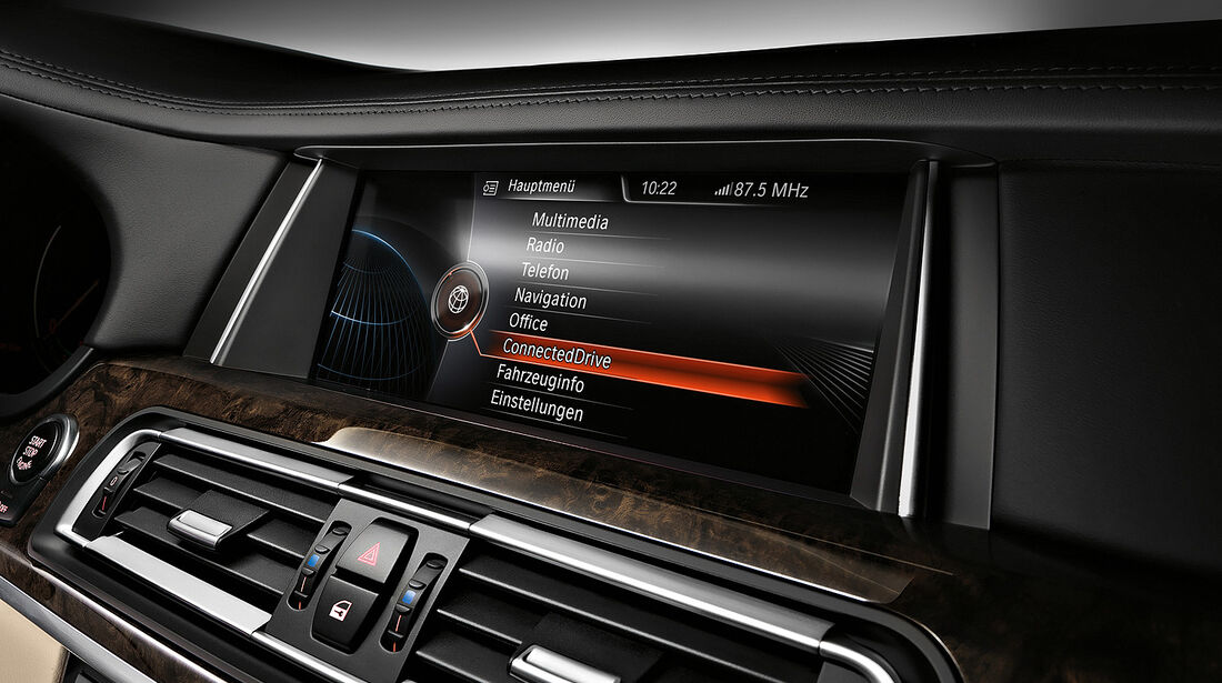 BMW 7er, Navigationssystem, Display