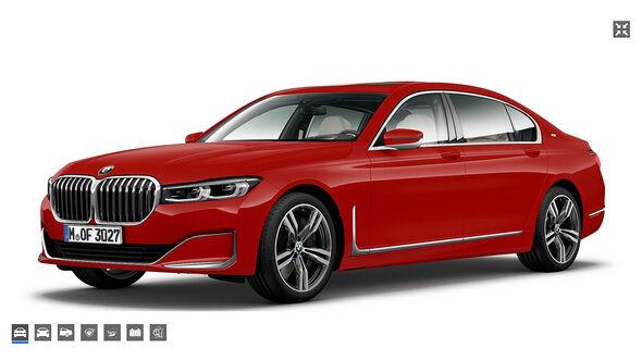 BMW 7er Rosso Corsa