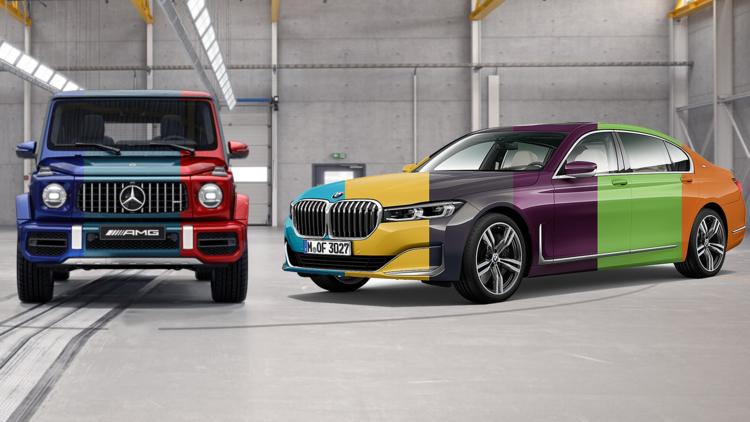 Bmw 7er Und Mercedes G Konfiguriert Bunt Wie Ein Osterei Auto Motor Und Sport