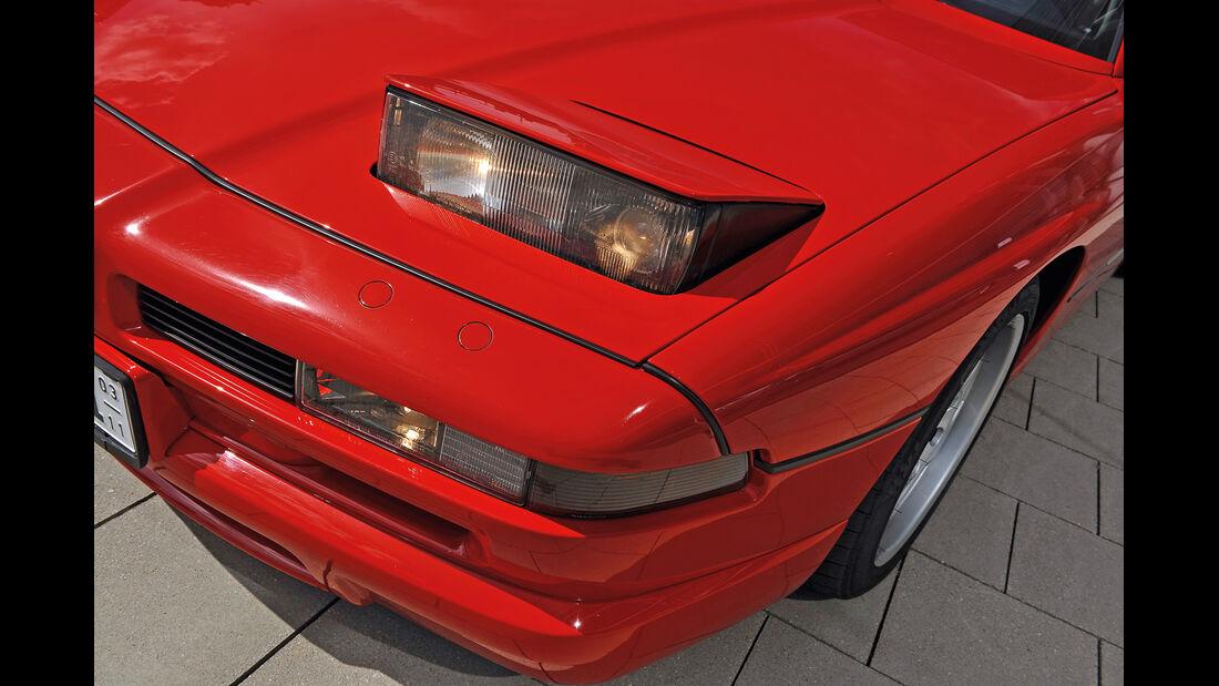 BMW 850 CSi, Frontscheinwerfer
