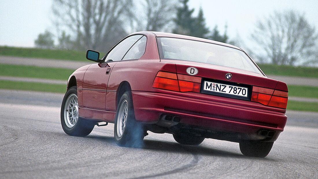 BMW 850i, Heckansicht