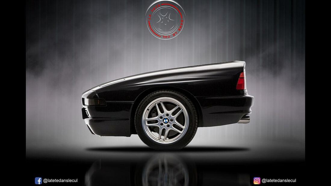 BMW 850i Retusche