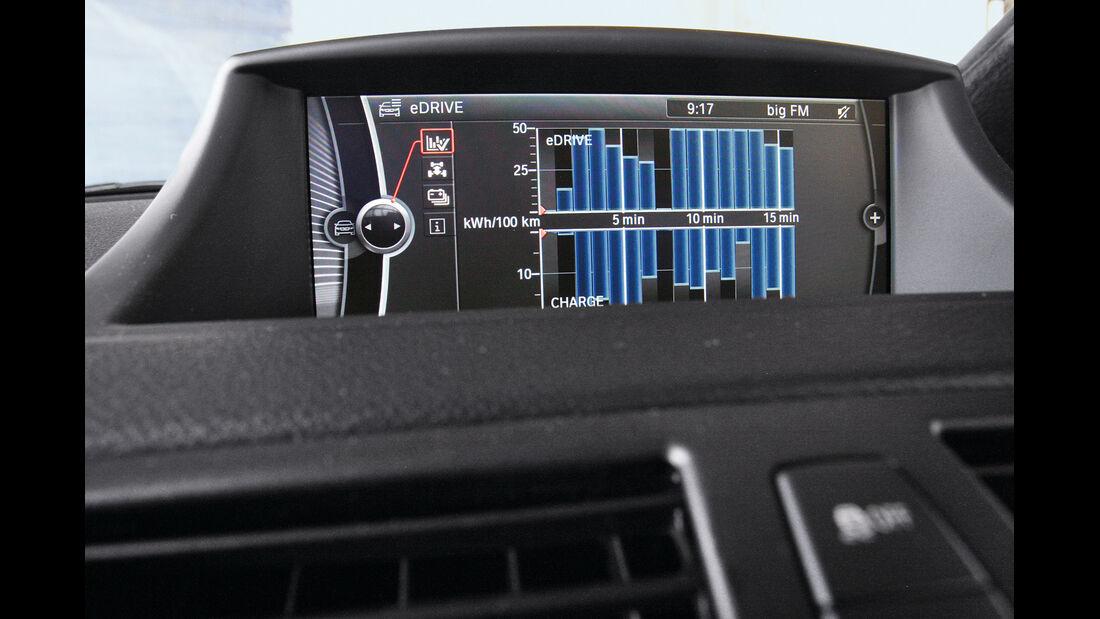 BMW Active E, Bildschirm, Antrieb, Anzeige