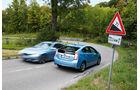 BMW Active Hybrid 3, Toyota Prius Plug-in Hybrid, Seitenansicht