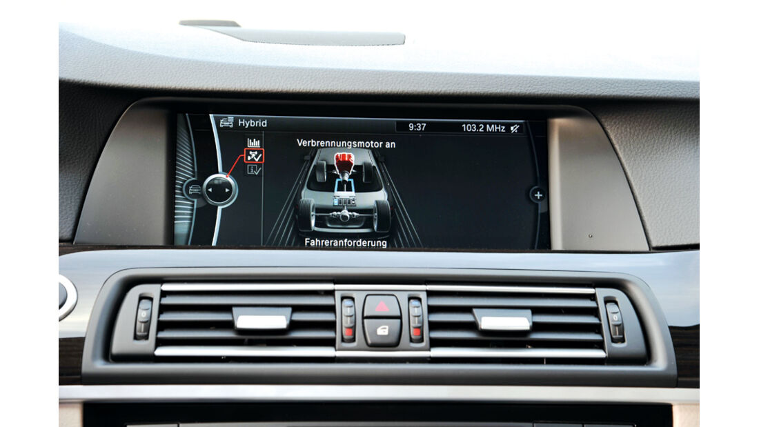 BMW Active Hybrid 5, Display