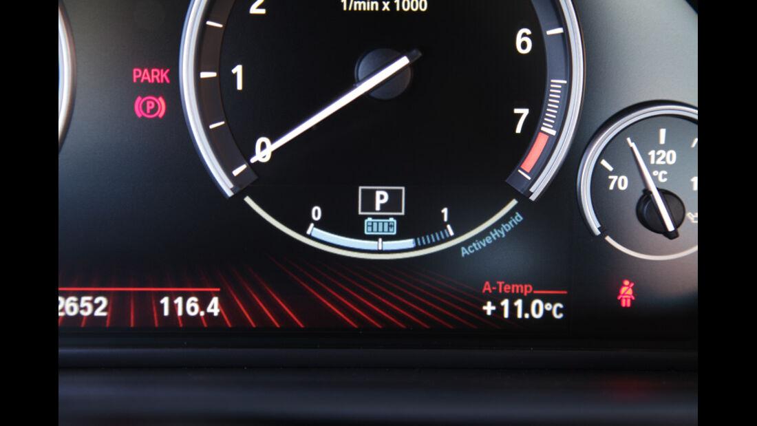 BMW Active Hybrid 5, Tankanzeige