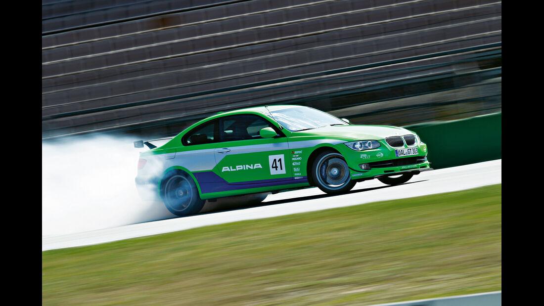 BMW Alpina B3 GT3, Burnout, Querbeschleunigung