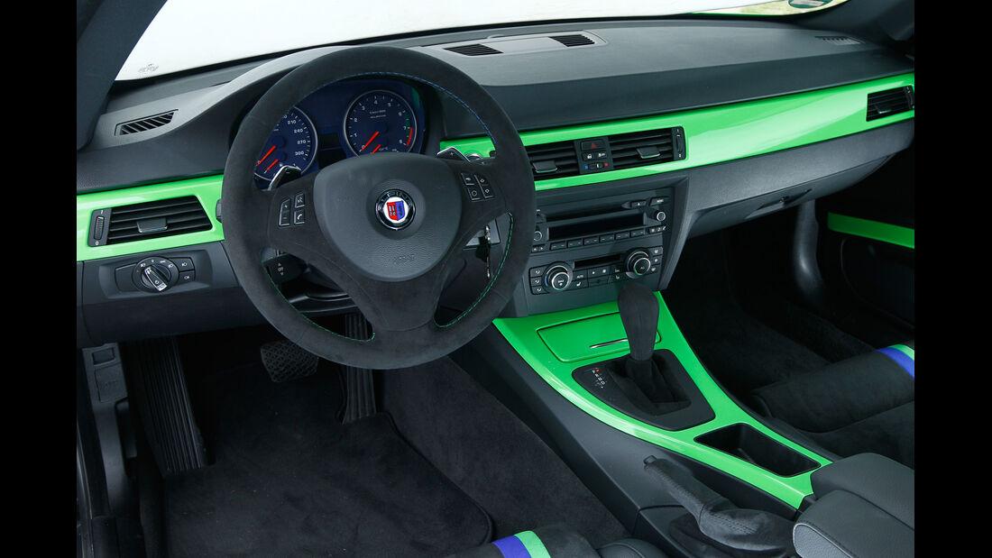 BMW Alpina B3 GT3, Cockpit, Lenkrad