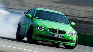 BMW Alpina B3 GT3, Frontansicht, Burnout