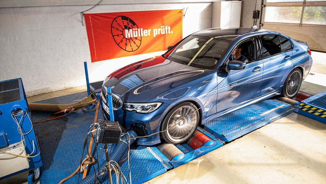 BMW Alpina B3, Leistungsmessung