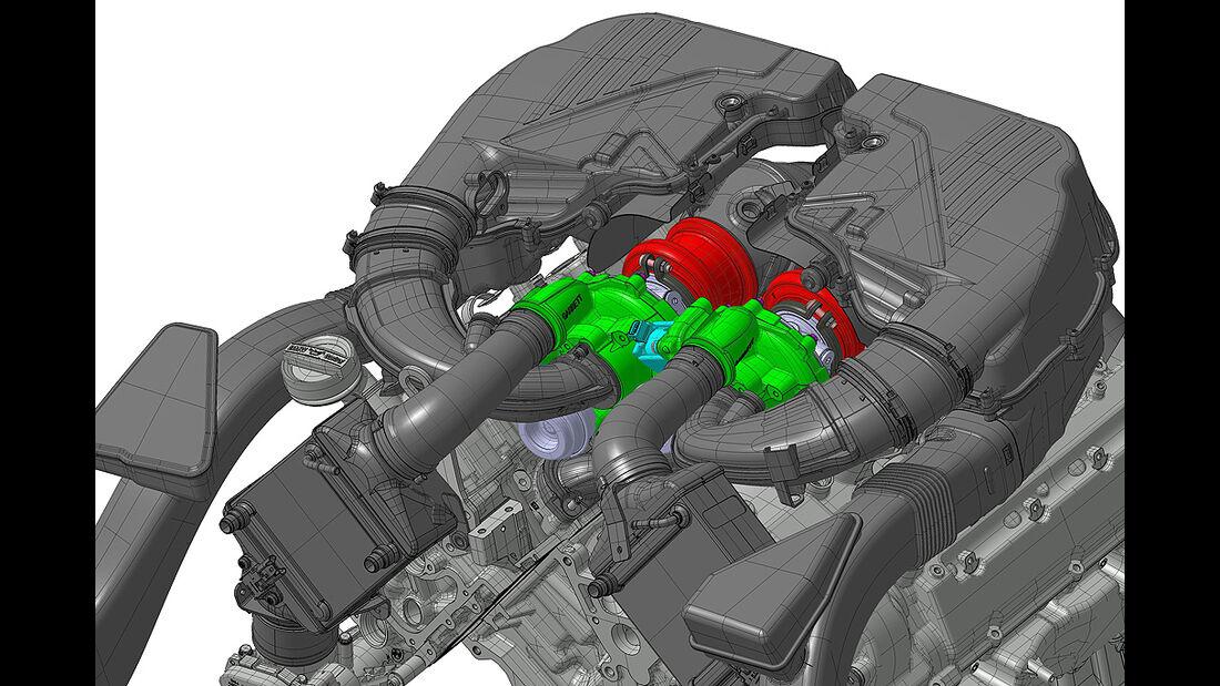 BMW Alpina B5 Biturbo, Motor, V8, technische Zeichnung