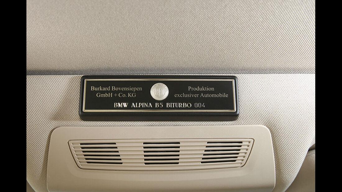 BMW Alpina B5 Biturbo,Serienplakette