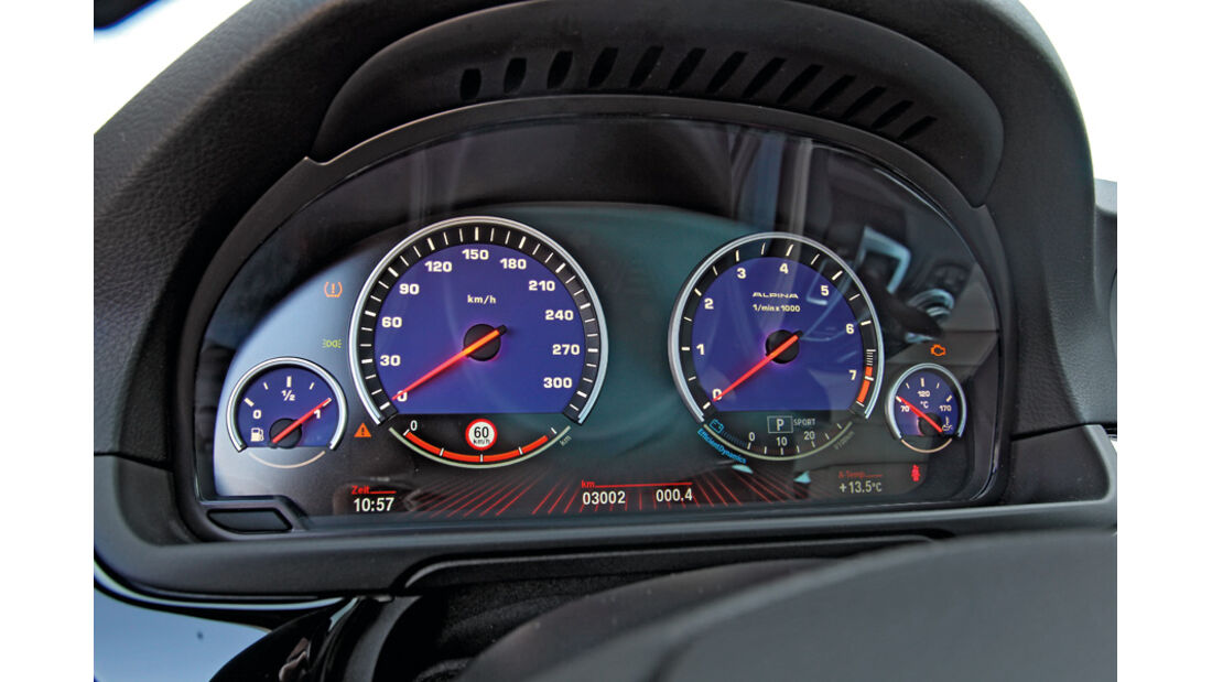 BMW Alpina B5 Biturbo Touring, Anzeigeinstrumente, Tacho