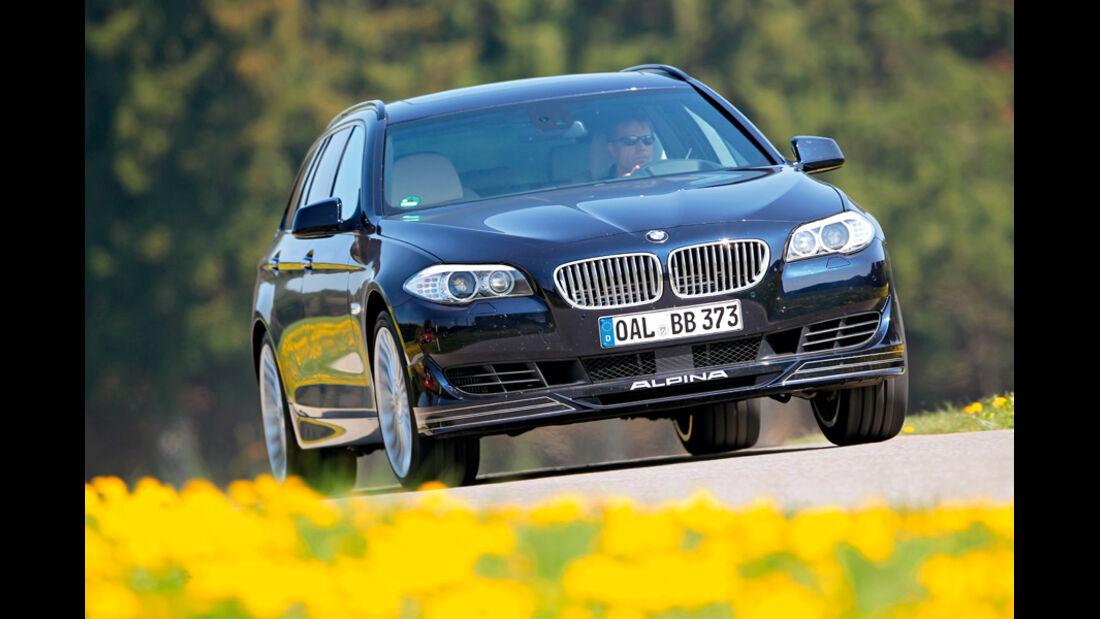 BMW Alpina B5 Biturbo Touring, Frontansicht, Ausfahrt