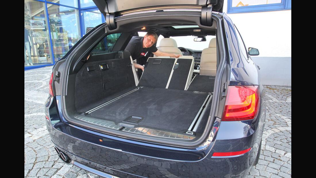 BMW Alpina B5 Biturbo Touring, Kofferraum, Ladefläche, Sitz umklappbar