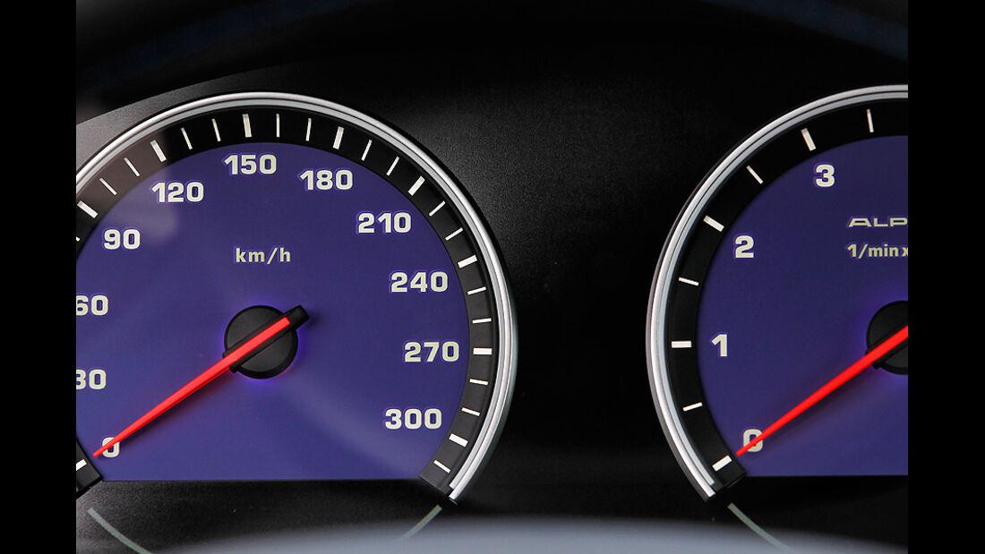 BMW Alpina B5 Biturbo Touring, Tacho, Anzeigeinstrumente
