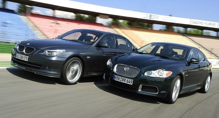 BMW Alpina B5 S, Jaguar XF-R