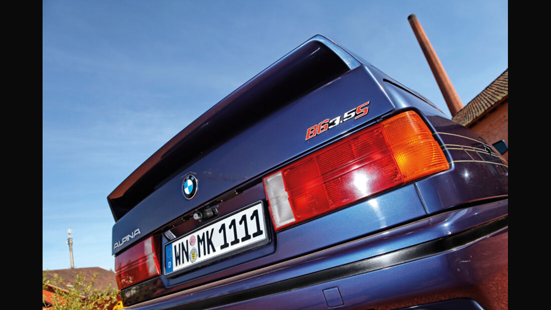 BMW Alpina B6 3.5 S, Heckspoiler