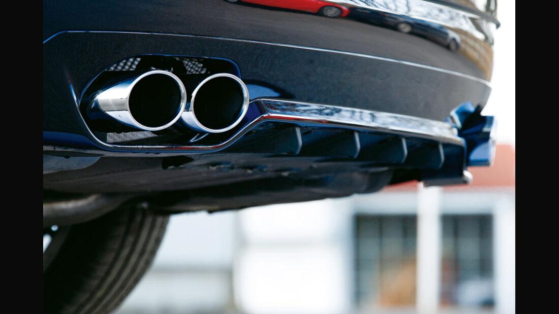 BMW Alpina D5 Biturbo, Auspuff