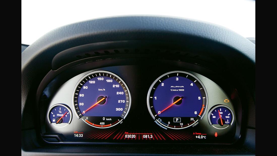 BMW Alpina D5 Biturbo, Rundinstrumente