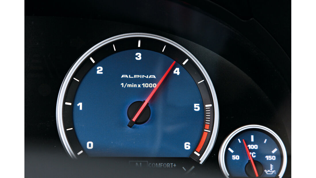 BMW Alpina D5, Rundinstrumente, Tacho
