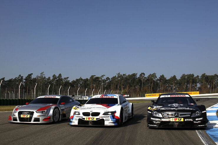 BMW Audi Mercedes DTM Autos 2012