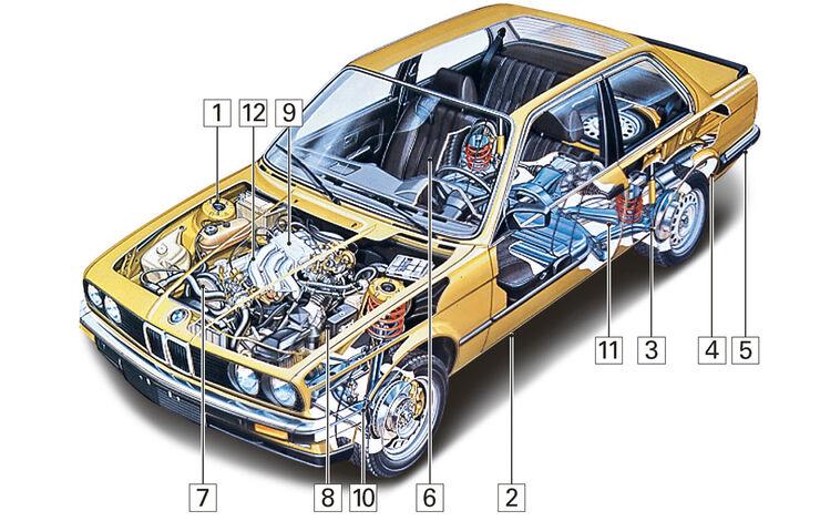 BMW Dreier E30 Cabrio, Igelbild, Schwachstellen