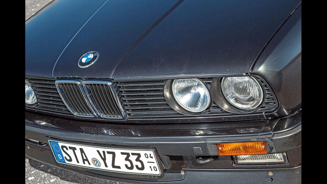 BMW Dreier E30 Cabrio, Kühlergrill, Frontscheinwerfer