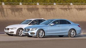 BMW Dreier, Mercedes C-Klasse, Seitenansicht