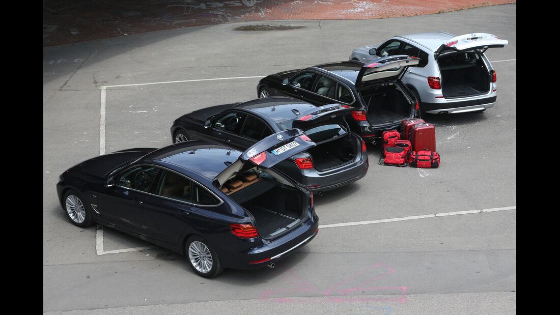 BMW Dreier-Reihe, Gruppenbild, Kofferraum