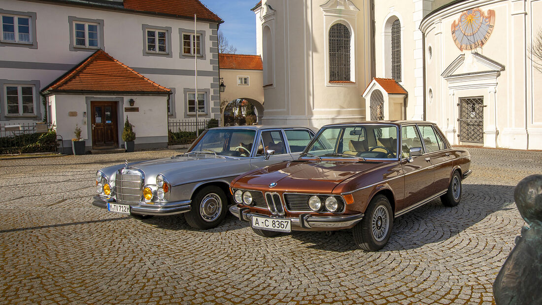 BMW E3 3.0 S, Mercedes W109 300 SEL 3.5, Exterieur