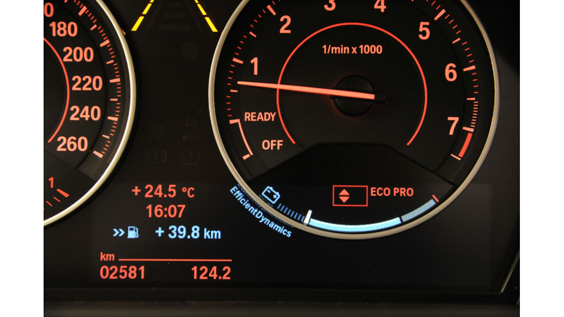 BMW Einser, Anzeige, Eco Pro-Modus