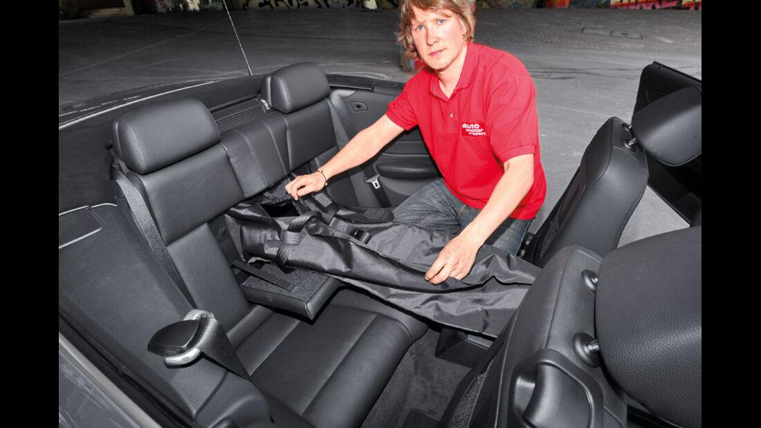BMW Einser Cabrio, Fond