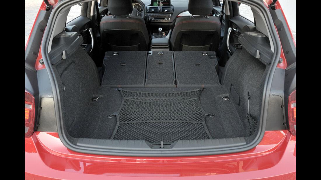 BMW Einser, Laderaum, Kofferraum