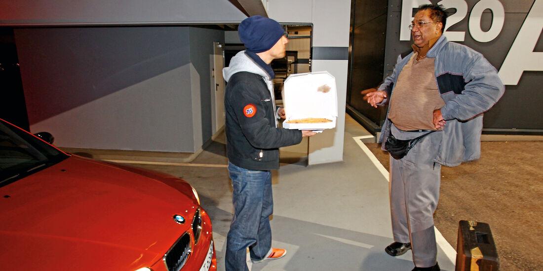 BMW Einser M Coupé, Pizzabote
