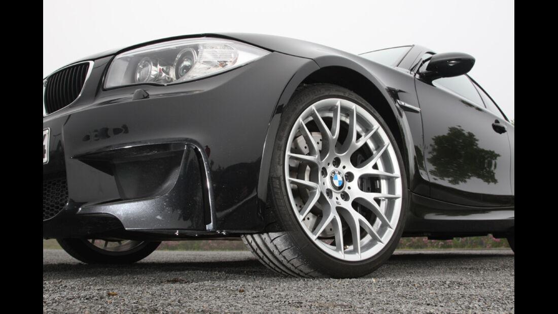 BMW Einser M Coupe, Detail, Alufelgen, vorne